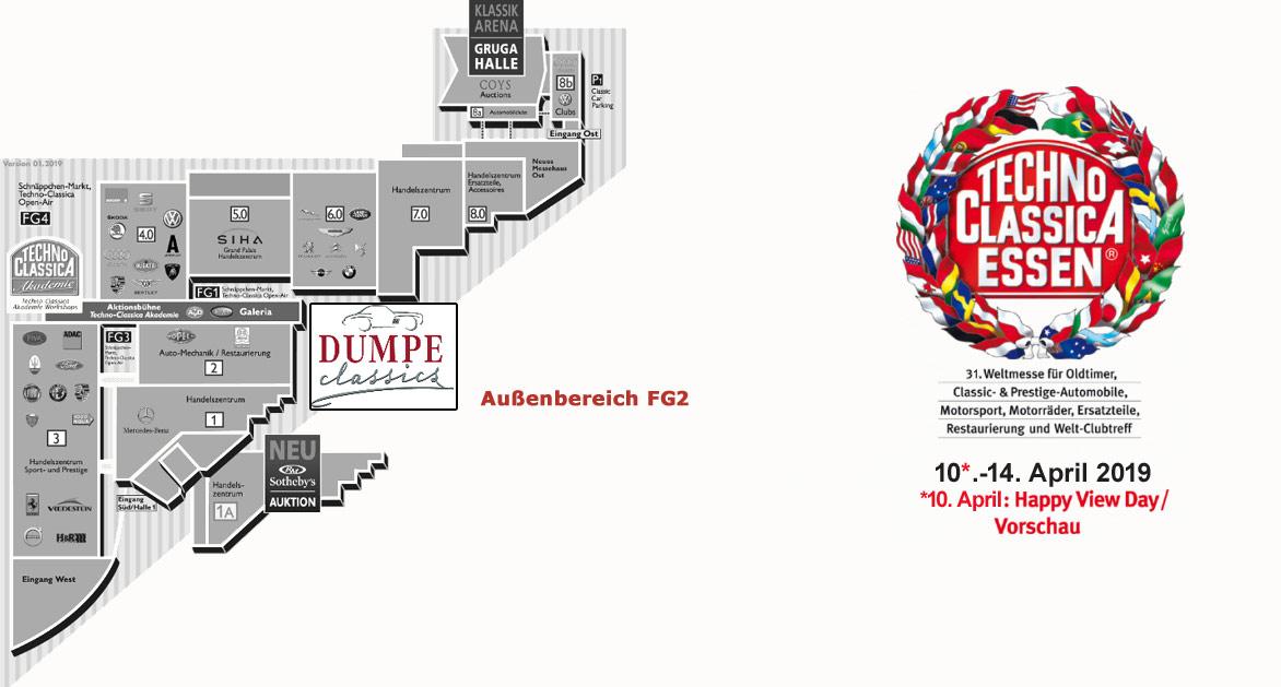 Schlossgarage Dumpe Südkirchen - Techno Classica Eseen 2019