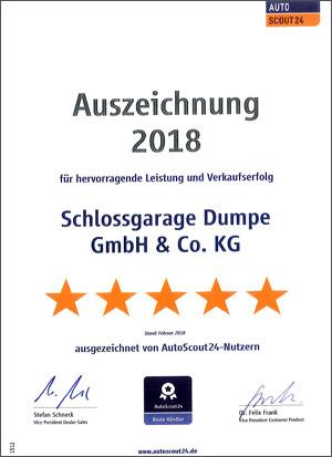 Schlossgarage Dumpe Südkirchen - Autoscout24 2018