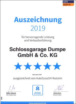 Schlossgarage Dumpe Südkirchen - Autoscout24 2019